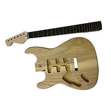 GD4444 Coban Guitars Zurdo US Fresno Guitarra Eléctrica Kit construcción para estudiante & Luthier Proyectos -