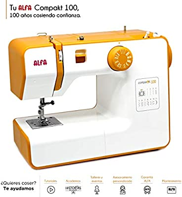 Alfa Compact100 Compakt 100-Maquina de Coser compacta, Blanco, 25 ...