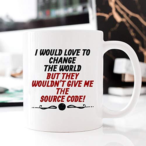 - Source Code, Computer Geek Mug, Gift for Programmer, Hello World, Computer Mug, Source Code, Valentines Gift, Funny Mug, Gift Ideas Code - 11oz