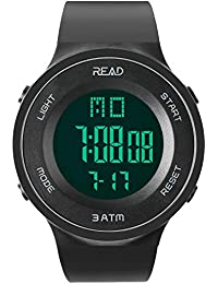Men Women Digital Sports Watch (R90003), Military Outdoor Led Display Watches Large Face