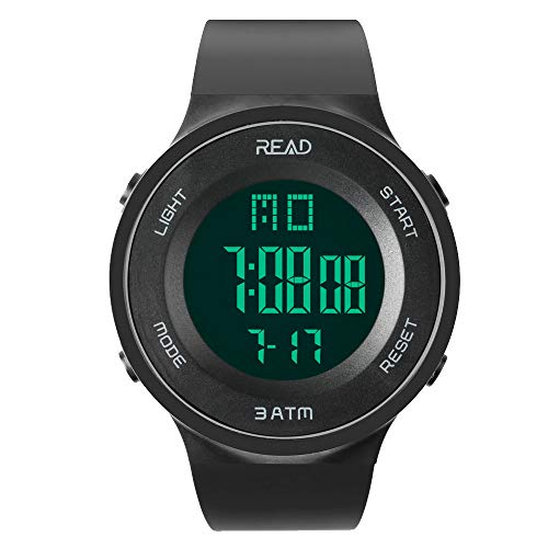 Read Sports Digital Smart Watch for Men/Women, R90003 Model -Outdoor Military Watches with Alarm, Stopwatch, Calendar, LED Display and Shockproof (Black)...