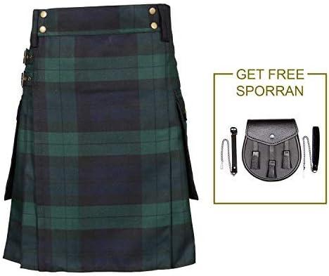 Majestic Escocés Faldas Escocesas para Hombre, Kilt Sociedad Real ...