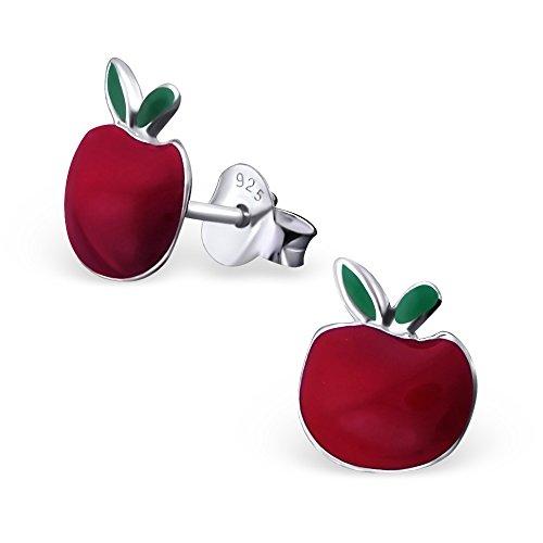 Laimons - Boucles d'oreille pour enfant - argent sterling 925 - pomme