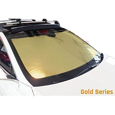 HeatShield The Original Auto Sunshade, Custom-Fit for Jeep Wrangler SUV 1997-2006, Gold Series: Automotive