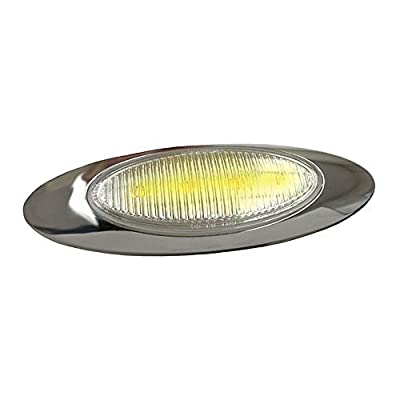 Grote 47773 Yellow M1 Series LED Clearance Marker Light (180 Molded Bullet, Bezel, Clear Lens): Automotive
