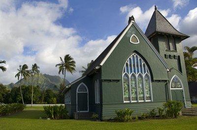 ''Hanalei Church Kauai'' Art Photograph Hawaii Kauai By Michael Verlangieri by