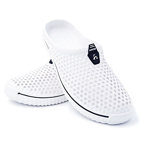 White Unisex Amoji Clogs Sandals Slippers Garden Shoes zBnFxAwn