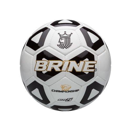 - Brine Championship Soccer Ball, Black, Size 5