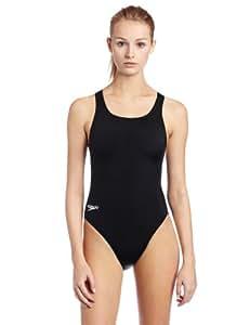 Speedo Women's Race Learn to Swim Super Pro Swimsuit, Black, 32