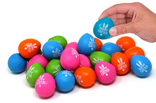 4E's Novelty 24 Mini Squishy Easter Egg Hunt