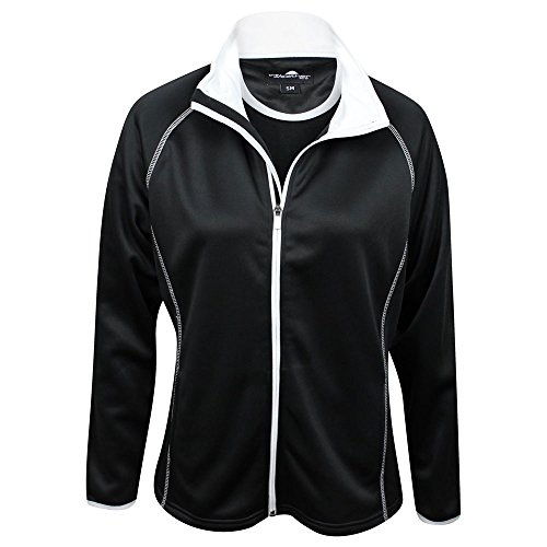 The Weather Apparel Co Poly Flex Golf Jacket 2017 Women Black/White X-Large by The Weather Apparel Co