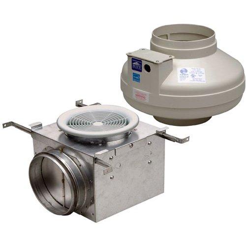 """Fantech PB190 Inline Exhaust Fan, 190 CFM, Bathroom Kit with FR140 Fan - for 6"""" Duct"""