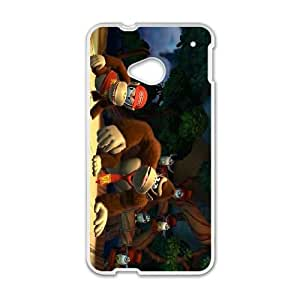 HTC One M7 Cell Phone Case White Donkey Kong Country Tropical Freeze ISU255353