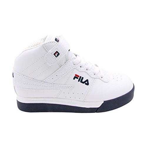 White Sneakers Fila (Fila Boy's Vulc 13 Mid Plus Sneakers (Little Kid/Big Kid))