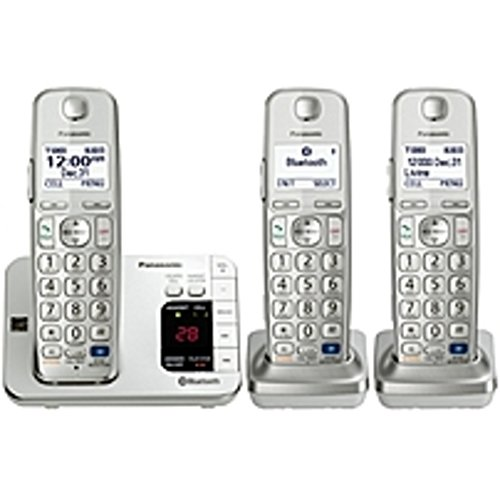 Panasonic Link2Cell KX-TGE263S DECT 6.0 1.90 GHz Cordless Phone - Silver - Cordless - 1 x Phone Line - 2 x Handset - Speakerphone - Answering Machine - Hearing Aid Compatible - Backlight ()