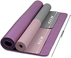 185 x 122 x 1 cm doble Yoga Mat ejercicio Fitness Workout ...