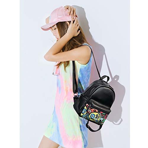 Occasionnel backpack Cuir en Personnalité à Noir Ordinateur Sac Souple ModèLe Lady Small Main PU Sac Sac Mode Dos éTanche à PwcYqXd