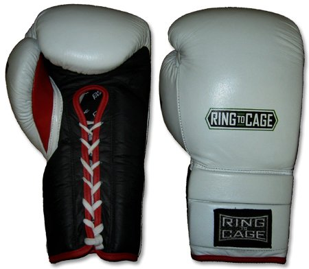 Ring to Cage Deluxe MiM-Foam Sparring Gloves - Lace-up for Muay Thai, MMA, Kickboxing, Boxing-16oz