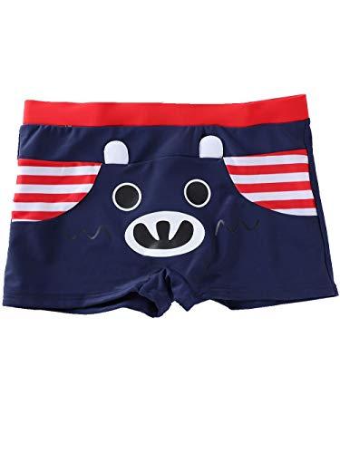 Fitted Swim Boxer - SeaBeauty Kids Boys Swimming Trunks Cute Animal Swim Boxer Shorts Bathing Suit Swimming Underwear Navy