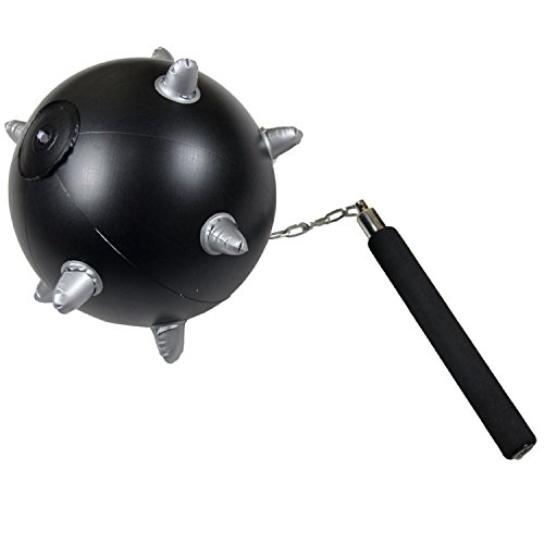 partyclub Inflatable Mace Ball and Chain Spiked Flail (Mace And Chain)