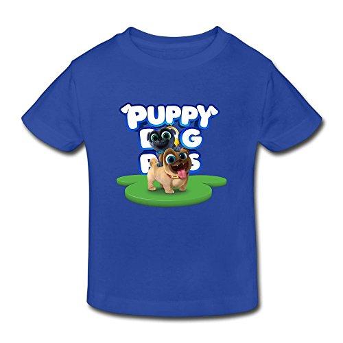 Ssuac Yi66 Puppy Dog Lovely Pals Unisex Kids Perfect Short Sleeve Tank Top Cotton T-Shirt RoyalBlue 3 Toddler