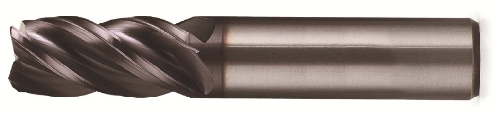 0.090 Radius Corner End Bassett MSE-V-4R Series Solid Carbide End Mill 5//8 Cutting Diameter 4 Flute 3-1//2 Length TiAlN Coated Pack of 1 1.25 Cutting Length