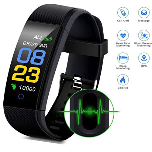 Cindynamo Fitness Tracker Watch Waterproof Watch Step Activity Tracker with Heart Rate, Sleep Monitor Pedometer Calorie Counter Call/SMS Remind for Android and iOS