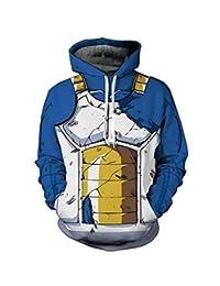 happyheart Dragon Ball Z Pullover Sweatshirts Son Goku Vegeta 3D Hoodies Outerwear Sweater