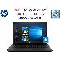 HP 15-BS038DX 15.6 HD Touch Screen Laptop:7th Gen Intel Core i7-7500U,12GB DDR4 SDRAM ,1TB Hard Drive,Window 10 Home-Jet black
