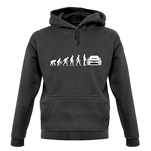 - Dressdown Evolution of Man Impreza Driver - Unisex Hoodie - Graphite - Large