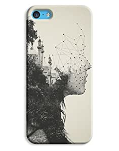 Deep In Thought Face Shapes City Scape Sepia iPhone 5c Hard Case Cover