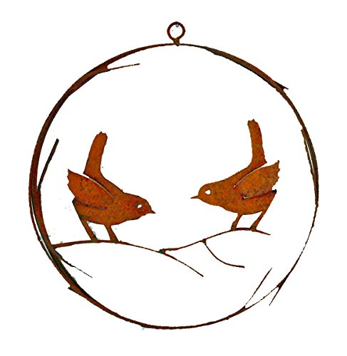(Elegant Garden Design Bird Wire Wreath, Rusty Patina )