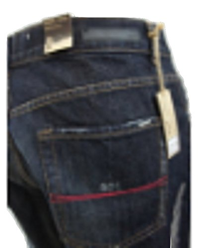 APTHerren Jeanshose, Einfarbig Blau Indigo Blue Wash