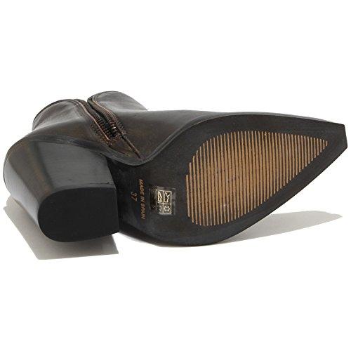 78203 tronchetto JEFFREY CAMPBELL scarpa stivale donna boots shoes women nero/oro