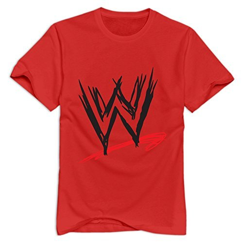 Red Wwe Casual T Shirt For Mens Size S (Cartoon Tombstone)