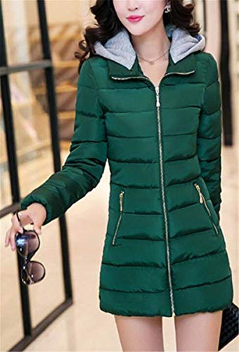 Invernali Classiche Trench Cerniera Con Laterali Armgrün Monocromo Cappuccio Manica Calda Outwear Giacca Donna Giovane Donne Lunga Tasche Piumino Moda qSrWySEw7