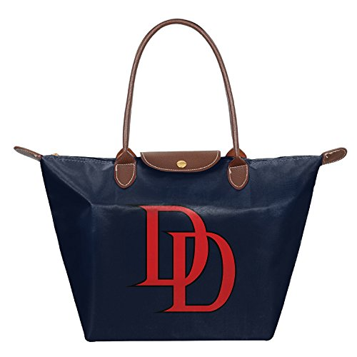 FALKING Women's Daredevil Logo Waterproof Shoulder Handbags For Beach Shopping With Zipper