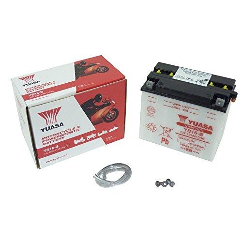 YUASA batterij YB16-B open zonder zuur