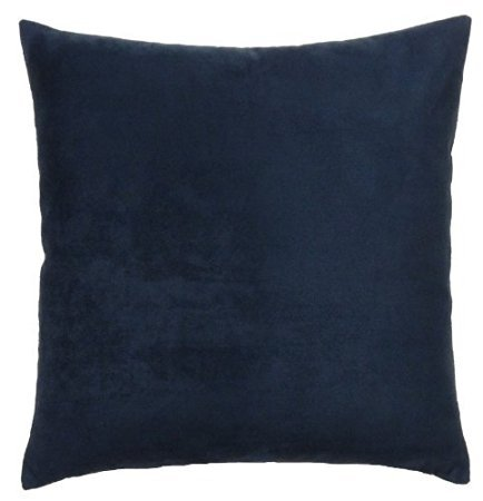 Throw Pillows 26 X 26 : 2-PC Faux Suede 26 X 26 Inches Square Euro Pillow Cover, Throw Pillow Case - Navy - Throw ...