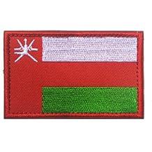 ShowPlus Oman OM Flag Military Embroidered Tactical Velcro Patch Morale Shoulder Applique
