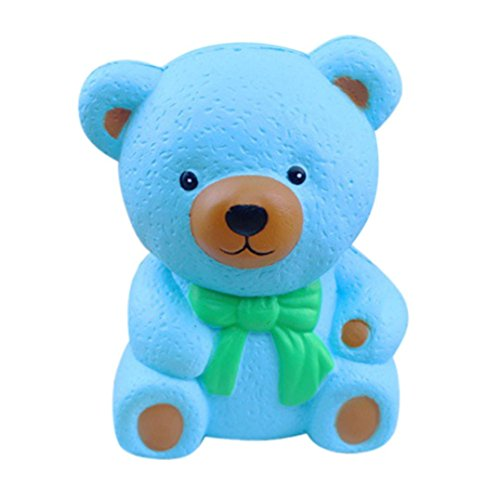Elaco Bear Finger Doll Squishy Slow Rising Cream Scented Decompression Toys (blue) (Mother's Day Packages)