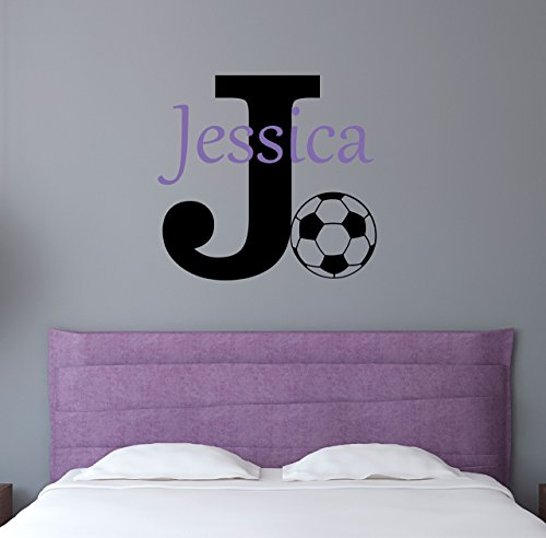 Custom Name Sports Wall Decal - Boys Girls Personalized Name