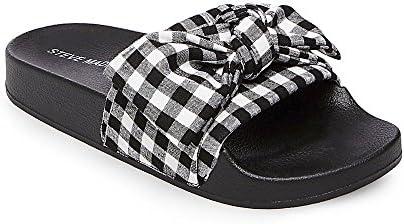 elige genuino tienda de descuento estilo clásico Steve Madden Women's Silky-G Black Multi Fabric Sandal - 5M: Buy ...