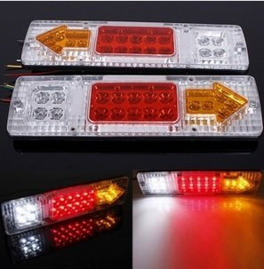 Actopus-2Pcs-12V-19-LED-Car-Truck-Trailer-Tear-Tail-Stop-Light-Indicator-Lamp