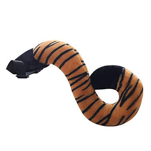 HugeHug Wacky Animal Plush Tail Toys for Adult Kids Halloween Cosplay Costume Party Simulation (Tiger, for Adults) -