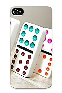 Perfect Tpu Case For Iphone 4/4s/ Anti-scratch Protector Case (colorful Domino )