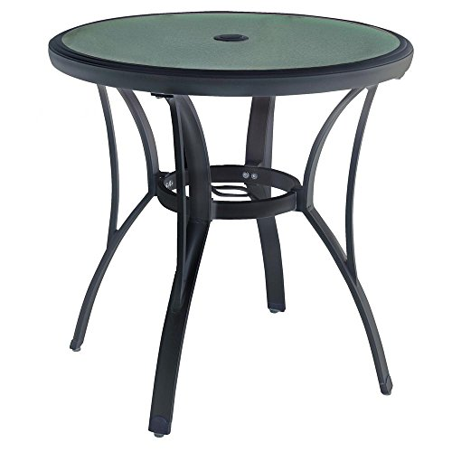 Hampton Bay Commercial Grade Aluminum Brown Round Outdoor Bistro Table ()