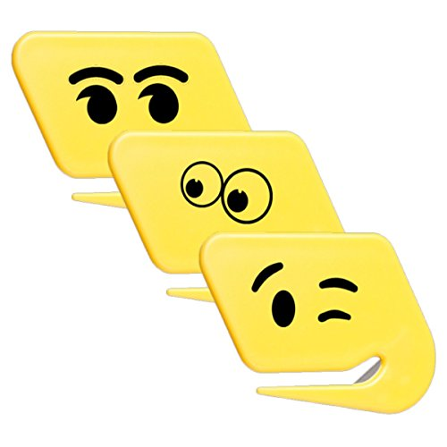 uncommon desks Smiley Face Letter Openers, 3-Pack