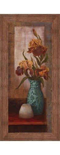 (Framed Spiced Jewels II - Mini- 8x20 Inches - Art Print (Brown Barnwood Frame))