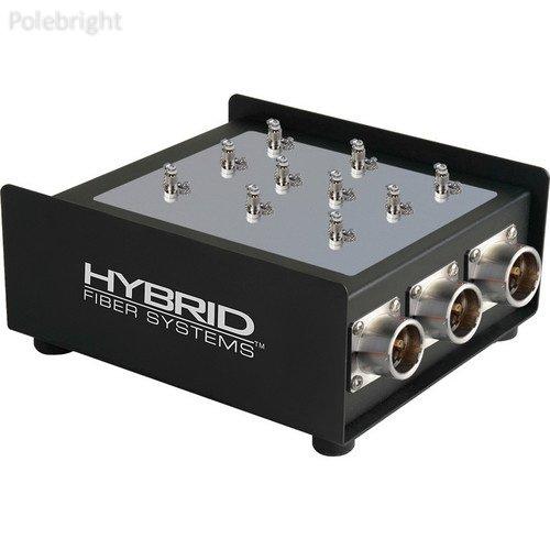 Fiber Breakout Box - 5-Channel Female SMPTE 311M Hybrid Fiber To Duplex ST Fiber Optic Breakout Box - Polebright update